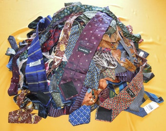 Lot Of 100 Tie Pure Silk Various Brand, Colour & Pattern Vintage Designer Dress Necktie Made In Italy (9/2)
