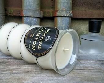 Recycled Liquor Bottle Scented Candle, Domanie de Canton Cognac