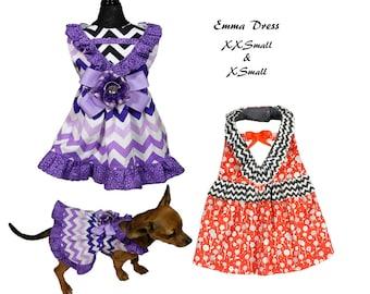Dog Tutu, Dog Dress Pattern, Dog Clothes Sewing Pattern pdf Tutorial -Emma Dress- XXSMALL & XSMALL