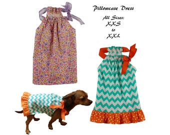 Dog Dress Sewing Pattern PDF, Dog Clothes Tutorial -Pillowcase Dress- Bundle Pack ALL SIZES xxsmall to xxlarge