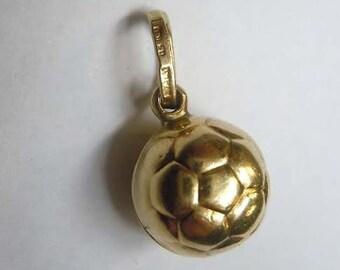 14kt Gold Soccer Ball Charm Pendant Football