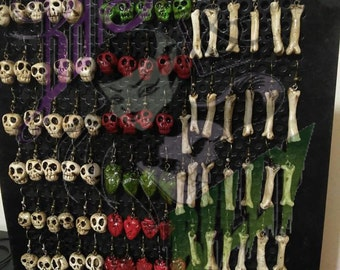 Bones and Mexican Skulls Earrings