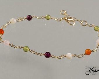 Potpourri goldfilled bracelet