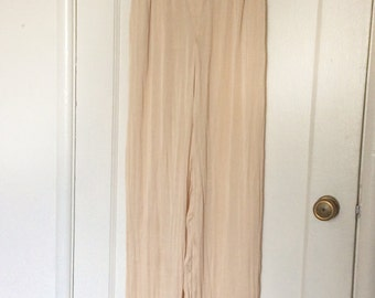 1970's Style Silky Peach Plazzo Pants