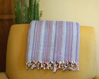 Hand-woven cotton blanket
