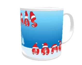 Personalised Xmas greeting mug