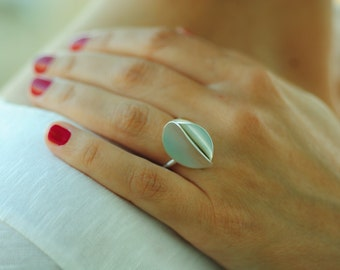 Contemporary Adjustable Ring, Statement Ring, Unusual Minimal Ring, Handmade Sterling Silver Ring/ Gift Ideas.