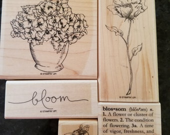 "Stampin Up ""Bloomin' Beautiful"" Stamp Set/Retired"