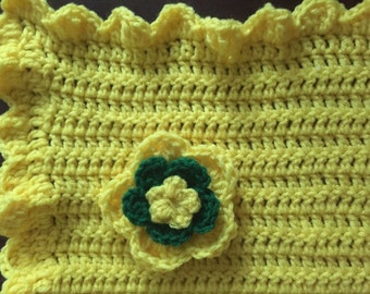 Baby Blanket with Flower
