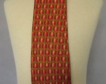 Late 1950's Vintage Haulinetrigere Silk Necktie