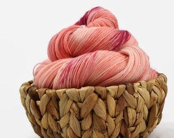Hand dyed lace yarn sw merino nylon- Lovely