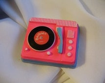 Mod Francie *PINK RECORD PLAYER* 1966 Go Granny Go Accessory #1267 -Vintage Barbie