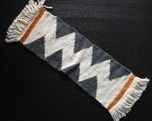 Weaving - Wall Hanging - Table Runner - Riverbed Pattern - Hand Woven Textile