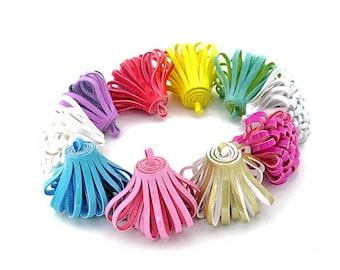 Looped Tassels - Decorative Tassels - 5 Assorted Color, No Cap Tassels - Tassels For Jewelry - Fun Purse Tassel - Key Chain Tassel - TD-0001