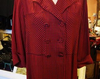 Vintage 1940's Rayon Gabardine Maternity Jacket Top