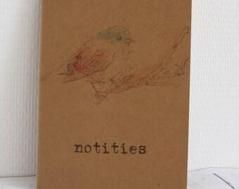 Notebook kraft A5 litte bird