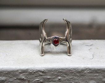 She-Ra, Princess of Power Ring in Silver with red Ruby