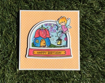 Fairy Birthday Card for Girls | Shaker Card | Handmade