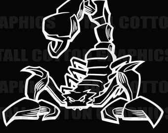 Awesome Scorpion Vinyl Decal #BS069