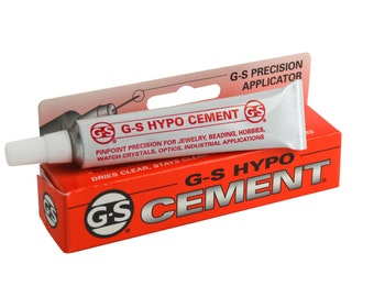 Jewelers G-S Hypo Clear Cement Precision Applicator Beads Findings Watch Crystals Plastic Glass Metal Ceramic Crafts Jewelry Making Glue