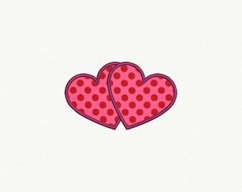 Heart Applique Machine Embroidery Design - 6 Sizes