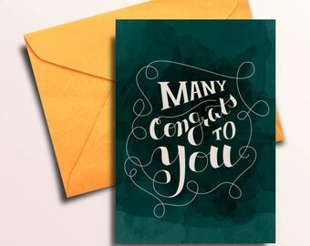 Many Congrats to you! Greeting card