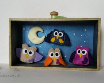 Gufando in company-decorative Picture Theater felt owls