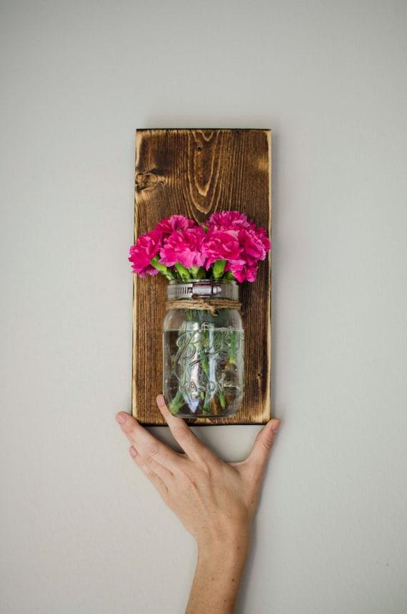 Mason Jar Wall Planter Dark Color Indoor Outdoor Herb