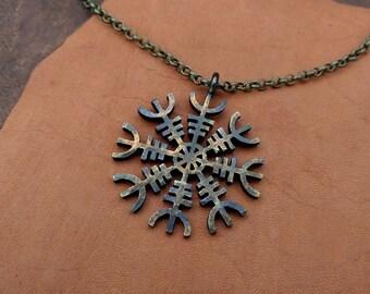 Viking Aegishjalmur - Norse Protective Amulet Necklace Pendant