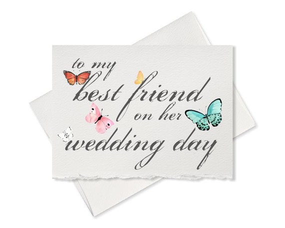 Gift For My Best Friend On Her Wedding Day : To my best friend on her wedding day, best friend wedding gift note to ...
