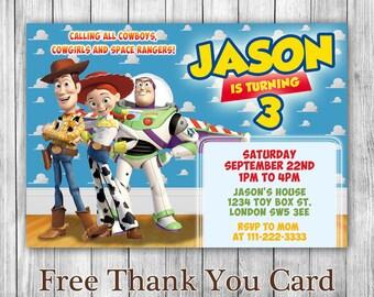 Toy Story Invitation - Toy Story Birthday Invitation - Toy Story Printable - Birthday Invitation - TS16