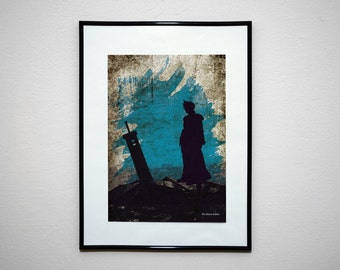 FF7 - The Shinra Soldier. VideoGrunge Wall Art Print Poster.