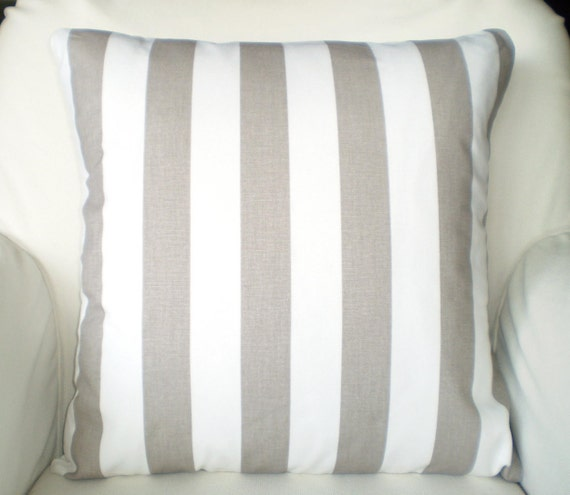 Throw Pillows For Taupe Sofa : Taupe Ecru Tan Decorative Throw Pillow by PillowCushionCovers