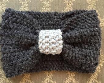 Knitted Turban Style Headband/Ear-warmer