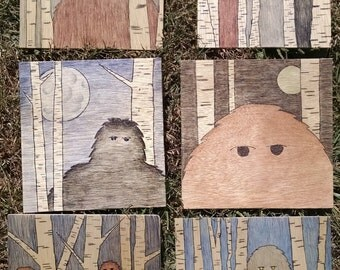 Bigfoot/Sasquatch Wood Prints