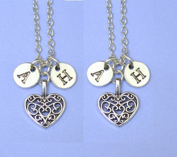 Matching couples necklaces couples jewelry valentine jewelry for Couples matching jewelry sets