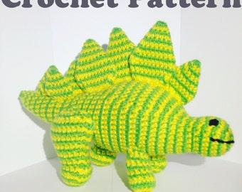 Stegosaurus, Dino Crochet Pattern, Dinosaur Pattern, Stegosaur Pattern, Amigurumi Pattern, Dinosaur Toy, Dinosaur Amigurumi, PDF Crochet