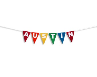 Name Banner, Custom Birthday Name banner,  Birthday Custom Name Garland, Birthday Flag Banner, Birthday Flag Garland, Bunting