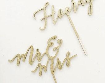 Lasercut Calligraphy Caketopper - Weddings & Custom