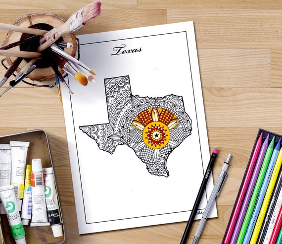 texas map coloring page - adult coloring maps texas map states maps coloring pages us