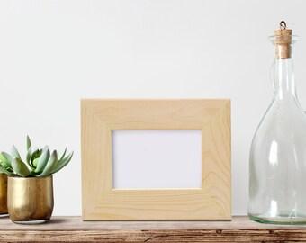"4x6x2"" Wide Face Picture Frame, Glass and Backing Unfinished Wood Frame,  DIY Frames, Blank Frame, Wood craft frame, Art Frame, Photo Frame"