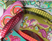 """NEW! Tula Pink - Designer Ribbon Pack - Chipper - 3 Designs 3 color ways - 11 ribbons 24"""" each-"""