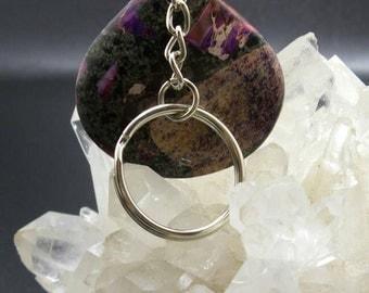 Purple Sea Sediment Jasper Key Chain.