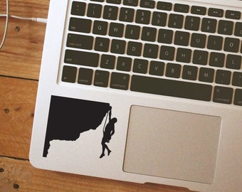 Rock climbing decal rock climbing sticker Laptop Vinyl Decal Sticker