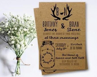 Wedding Invitation | Rustic | Southern | Country | Charm | PRINTABLE/DIGITAL/DIY