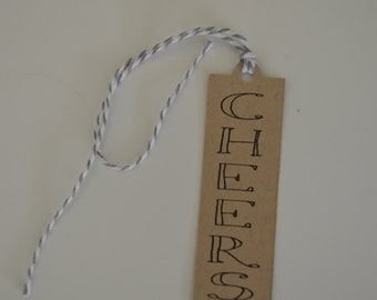 Cheers Gift Tag - Wine Bottle Gift Tag - The Wine Collection