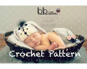 Eeyore Set -  PATTERN ONLY - Crochet - Size Newborn to 12 month