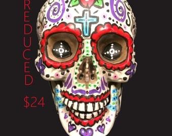 Day of the Dead, Dia De Los Muertos, Sugar Skull, Painted Skull, Halloween Decor