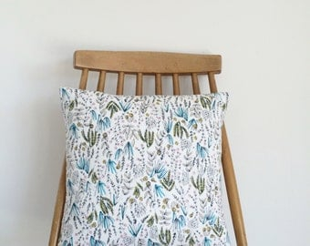 REDUCED! Floral/ leaf cushion, feather insert included.