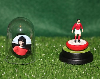 George Best (Manchester United)  - Hand-painted Subbuteo figure housed in plastic dome.